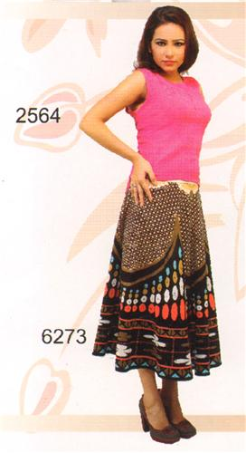 GEETA Hippie Bohemian Gypsy Indian Ethnic Print Umbrella Skirt RETRO 6273