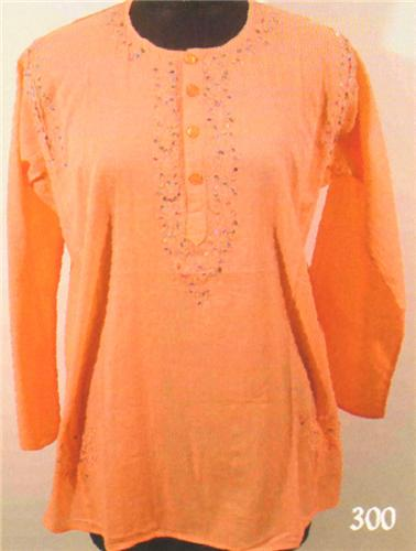 GEETA Hippie Bohemian Gypsy Indian Embroidered Color Sequin Voile Kurta 300
