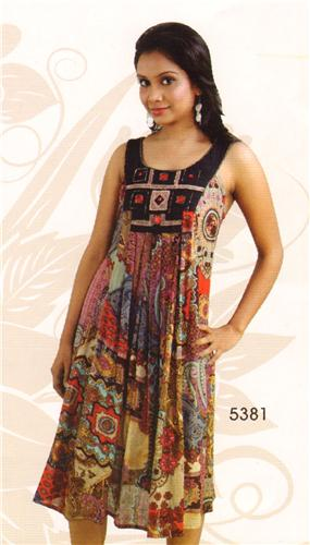 GEETA Hippie Clothes Bohemian Clothing Gypsy Indian Festival Ethnic Jewel Print Dress 5381