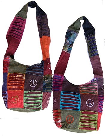 Nepal Handcrafted Hippie Bohemian Hobo Embroidered Patchwork Festival Shoulder Bag
