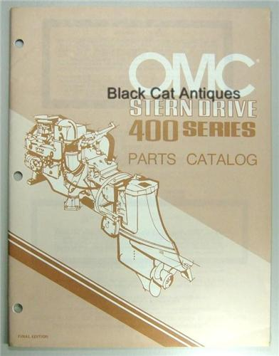 Original 1980 OMC Outboard Marine Corp Stern Drive Parts Catalog 400 Series NOS