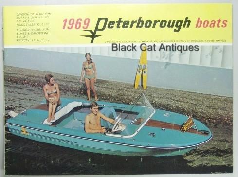 Original Vintage 1969 Peterborough Boat/Canoe Color Sales Booklet Great Pictures NOS