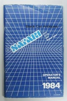 Original 1984 Safari #377, 377E, 447 Grande Luxe Outboard Motor Owners Manual NOS