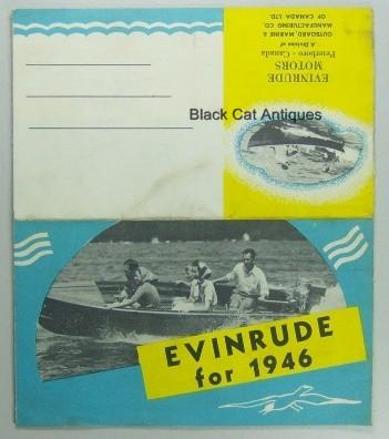 Original Outboard Marine Co 1946 Evinrude Fold-Out Sales Brochure Guide Used