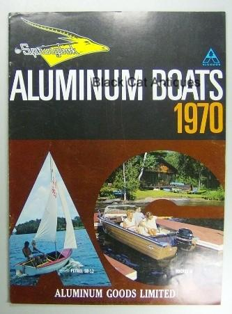 Original Vintage 1970 Springbok Aluminum Boats & Canoes Color Sales Booklet Used