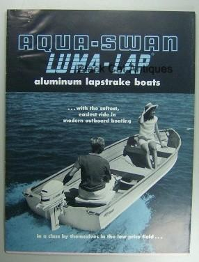 Original 1964 Aqua-Swan Luma-Lap Aluminum Boats & Price List Sales Booklet Used