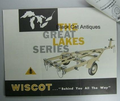 Original Vintage 1965 Wiscot Boat Trailer Sales Brochure with Price List Sheet Used