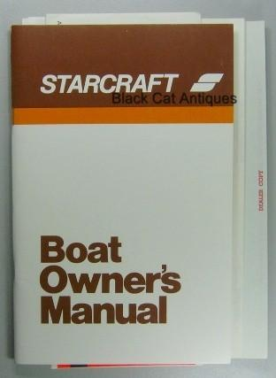 original vintage 1973 starcraft boat owners manual with owners rh blackcatantiques net boat owners manuals free download boat owners manuals online