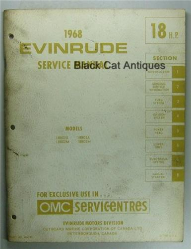 1968 evinrude outboard service Manual Number 18