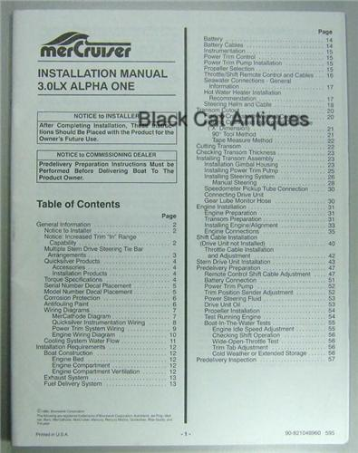 original 57 page mercury installation manual for mercruiser 3 0lx rh blackcatantiques net mercruiser bravo 3 installation manual mercruiser installation manual pdf