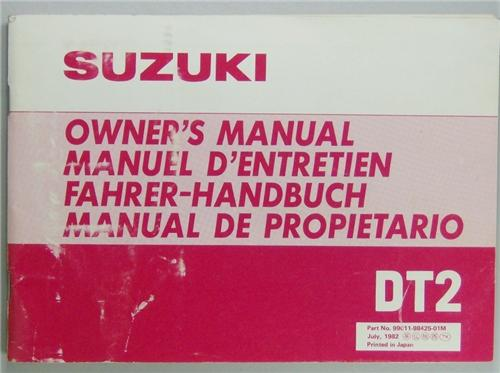 Suzuki outboard Owners manual Dt2