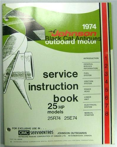 1974 omc johnson outboard motor service instruction manual 25 hp 1974 omc johnson outboard motor service instruction manual 25 hp 25r74 25e74 sciox Images