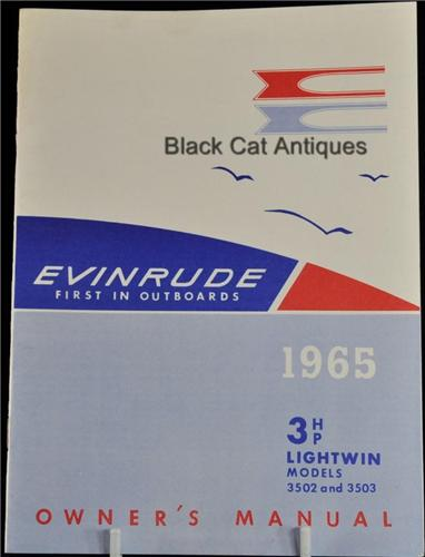 1965 boat owners manual 3 hp evinrude lightwin model 3502 3503 rh blackcatantiques net