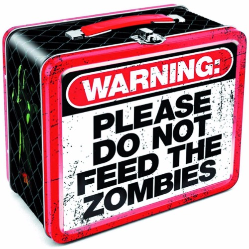 Warning Do Not Feed the Zombies Lunchbox