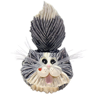 Gray white long hair cat business card holder animal emporium ceramic gray and white long hair cat business card holder colourmoves