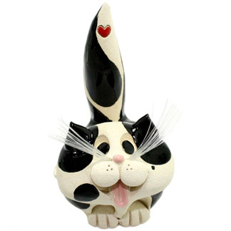 Black and white cat business card holder animal emporium ceramic black and white cat business card holder colourmoves