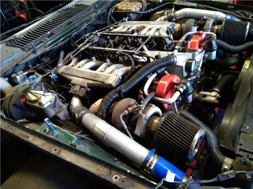 SOLD -  JAGUAR V12 TWIN TURBO ENGINE COMPLETE AS TAKEN OUT OF THE VEHICLE WITH COMPUTER