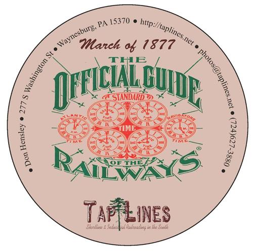 1877 Traveler's Official  Railway Guide of the US & Canada scanned to PDF on DVD