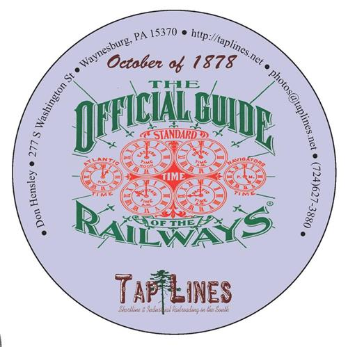 1878 Traveler's Official  Railway Guide of the US & Canada scanned to PDF on DVD