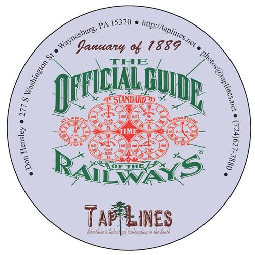 1889 Traveler's Official  Railway Guide of the US & Canada scanned to PDF on DVD