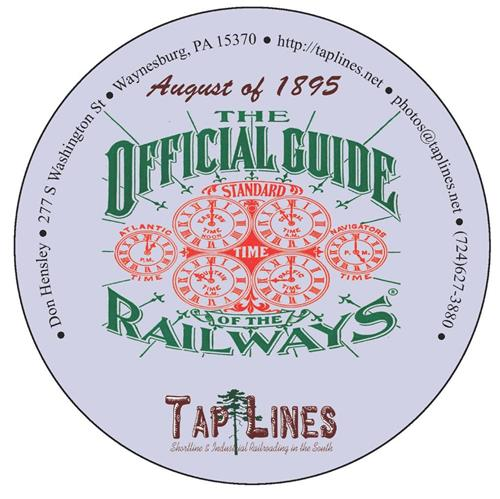 1895 Traveler's Official  Railway Guide of the US & Canada scanned to PDF on DVD