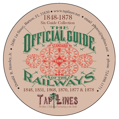 SIX OFFICIAL GUIDE OF RAILWAYS 1848, 1851, 1868, 1870, 1877 & 1878 on DVD