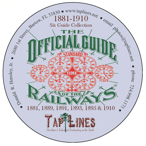 SIX OFFICIAL GUIDE OF RAILWAYS 1881, 1889, 1891, 1893, 1895 & 1910  on DVD