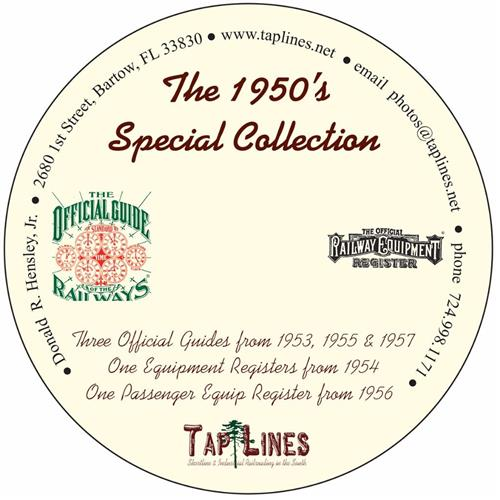 The 1950's Special Collection of Official Guides & Equipment Registers on DVD
