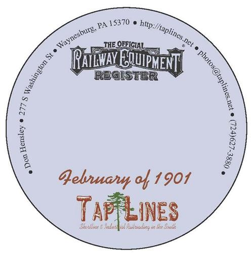 February of 1901 Official Equipment Register scanned to Adobe Reader on CD