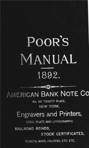 1892 Poors Manual of Railways scanned to CD