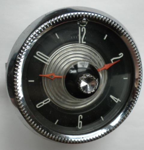 1955 Ford Clock Dated Apr 55 With Mounting Brackets