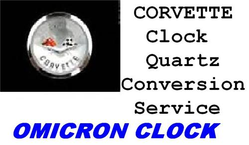 Quartz Conversion Service for 1972-1976 C3 Chevrolet Corvette Clock 1973 1974 1975