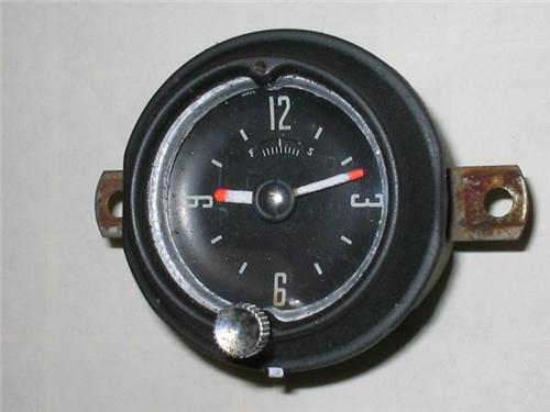 1952-1953 Ford Clock Customized for Hot Rod or Rat Rod - Windup Type