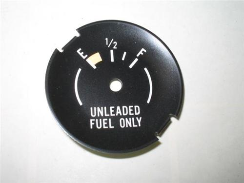 1975-1981 Chevrolet Camaro Unleaded Fuel Only Dial 1976 1977 1978 1979 1980