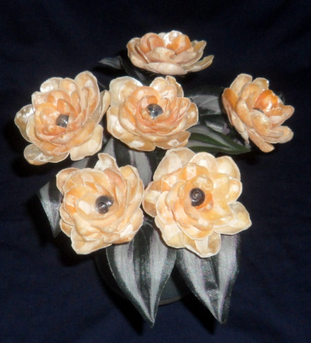 seashell%20crafts%20flowers%20orange%20home%20decor%20nautical%20beach