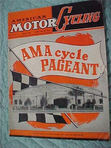 Motorcycling March.1953, Good Condition