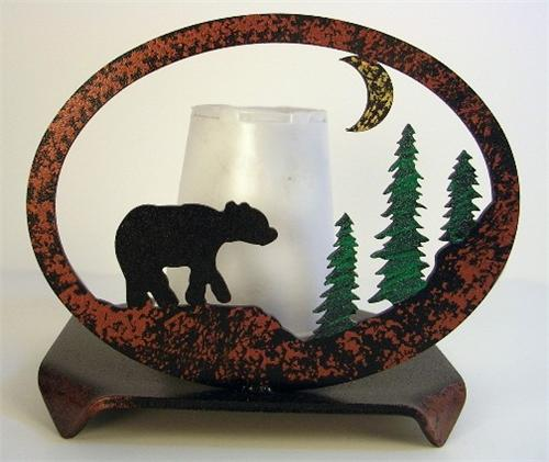Bear Scene Dixie Cup Holder