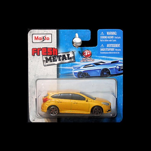 Maisto Fresh Metal 1 64 2013 Ford Fiesta Yellow Blaze Metallic Carminiatures Com