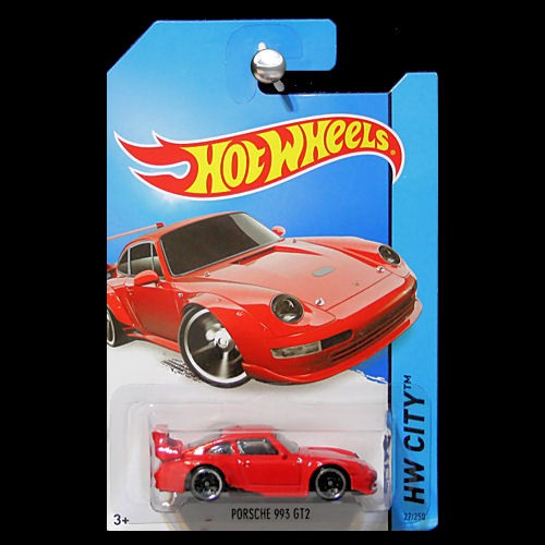 hot wheels 2014 hw city night burnerz porsche 993 gt2 in red. Black Bedroom Furniture Sets. Home Design Ideas