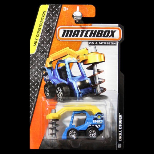 Matchbox 2014 MBX Construction Drill Digger Blue INC