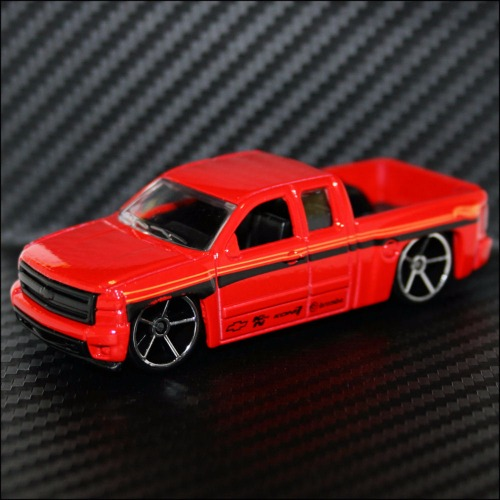 Hot Wheels 2017 Hw Work Then Now Chevy Chevrolet Silverado Pickup Truck Red