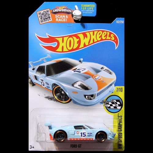 Hot Wheels 2016 Speed Graphics Ford Gt Gulf Blue