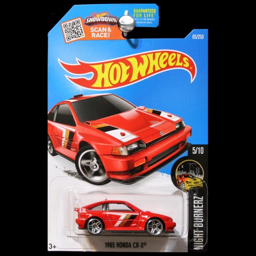 Hot Wheels 2016 Night Burnerz 1985 Honda Cr X Crx Red Carminiatures Com