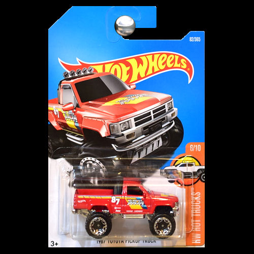 hot wheels 2016 hot trucks 1987 toyota pickup truck red. Black Bedroom Furniture Sets. Home Design Ideas
