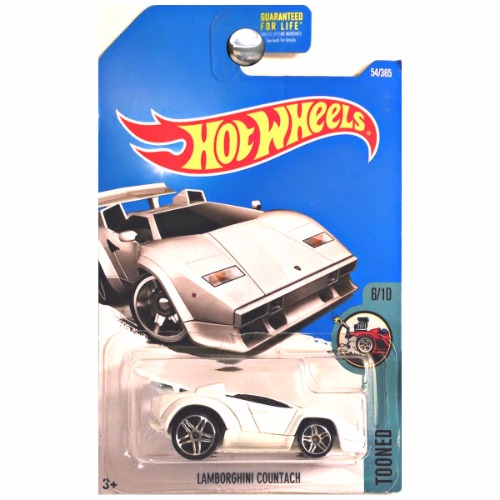 hot wheels 2016 tooned lamborghini countach white. Black Bedroom Furniture Sets. Home Design Ideas