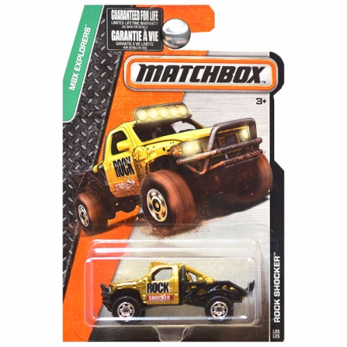 Matchbox 2016 MBX Explorers Rock Shocker In Gold