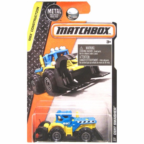 Matchbox 2016 MBX Construction Dirt Smasher Tractor INC