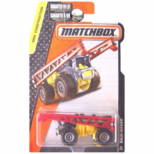 Matchbox 2016 MBX Construction Rain Maker Irrigation Red