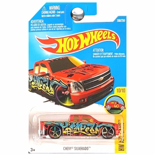 Hot Wheels 2016 Art Cars Chevrolet Chevy Silverado Pickup