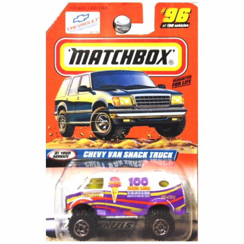 Matchbox 1998 At Your Service Chevrolet Chevy Van Snack